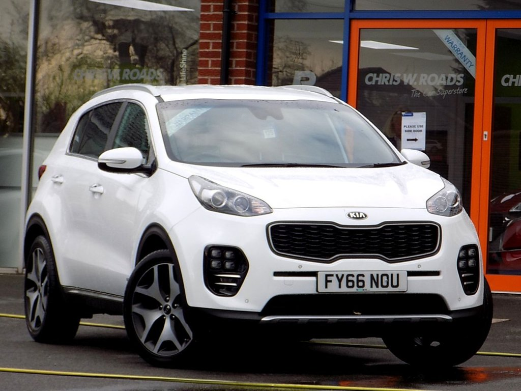 USED 2016 66 KIA SPORTAGE 1.6 GT-LINE 5dr 4WD (175)  *Sat Nav + Leather + Heated Seats*