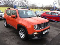 USED 2015 65 JEEP RENEGADE 1.6 M-JET LONGITUDE 5d 118 BHP ABSOLUTELY STUNNING IN ORANGE,VIEWING HIGHLY RECOMMENDED !!