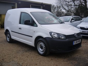 2014 VOLKSWAGEN CADDY 1.6 TDI 101 BHP C20 Startline Bluemotion Technology Van In White With Side Loading Door  £4695.00