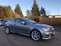 2014 MERCEDES-BENZ C CLASS 2.1 CDi C220  BLUEEFFICIENCY AMG SPORT 2d AUTOMATIC 170 BHP £12000.00