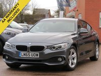 USED 2015 65 BMW 4 SERIES 2.0 418D SE GRAN COUPE 4d 148 BHP 6 MONTHS WARRANTY SATELLITE NAVIGATION, HEATED SEATS + AUTO TAILGATE