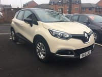 USED 2015 15 RENAULT CAPTUR 0.9 DYNAMIQUE MEDIANAV ENERGY TCE S/S 5d 90 BHP ONLY 9088 MILES AND FULL HISTORY!..CHEAP TO RUN , LOW CO2 EMISSIONS, £30 ROAD TAX AND EXCELLENT FUEL ECONOMY! EXCELLENT SPECIFICATION CLIMATE CONTROL, SATELLITE NAVIGATION, 17INCH ALLOY WHEELS, AND AUXILLIARY INPUT/USB!
