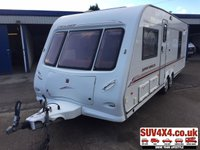 USED 2002 02 ELDDIS CRUSADER SUPER SCIROCCO 2002 6 BERTH TWIN AXLE NO VAT. 2002 MODEL YEAR. CRIS REGISTRATION. SIX BERTH. FIXED DOUBLE BED.END BATHROOM WITH SHOWER, HAND BASIN AND THETFORD CASSETTE TOILET. OVEN AND HOB. THREE WAY FRIDGE. TRUMA HEATING AND WATER HEATER. EXTERNAL GAS BBQ POINT. LEISURE BATTERY.ELECTRIC HOOK UP POINT. ALL ROUND LOVELY EXAMPLE READY FOR ITS NEW FAMILY AND NEXT ADVENTURE. PICK-UP & VAN CENTRE- LS23 7FQ. TEL:01937 849492 OPTION 1