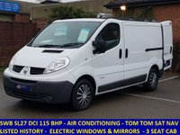2012 RENAULT TRAFIC SL27 DCI 115 WITH AIR CON AND SAT NAV £6295.00