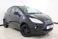 USED 2016 65 FORD KA 1.2 ZETEC BLACK EDITION 3DR 69 BHP HALF LEATHER SEATS + MULTI FUNCTION WHEEL + AIR CONDITIONING + RADIO/CD + ELECTRIC WINDOWS + 16 INCH ALLOY WHEELS