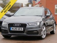 USED 2015 15 AUDI A3 2.0 TDI S LINE 5d 148 BHP SATELLITE NAVIGATION + 3 MONTHS AA WARRANTY INCLUDED