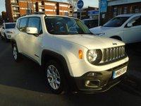 2015 JEEP RENEGADE 1.4 LONGITUDE 5d AUTO 138 BHP £11894.00