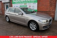 USED 2013 63 BMW 5 SERIES 2.0 525D SE TOURING 5d AUTO 215 BHP +SAT NAV +LEATHER +SERVICED.