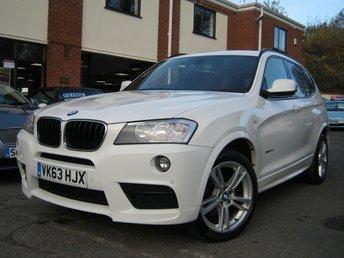 2013 BMW X3 2.0 XDRIVE20D M SPORT 5d AUTO 181 BHP £13995.00