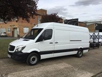USED 2016 66 MERCEDES-BENZ SPRINTER 2.1 313CDI LWB ROOF 130BHP EURO 6. LOW 25,000 MILES. 1 OWNER EURO6. MERCEDES WARRANTY 19.09.2019. LOW FINANCE. PX