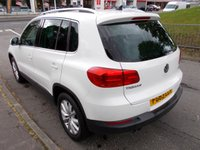 USED 2013 63 VOLKSWAGEN TIGUAN 2.0 MATCH TDI BLUEMOTION TECHNOLOGY 4MOTION 5d 139 BHP ++STUNNING IN WHITE FULL DEALER SERVICE HISTORY++