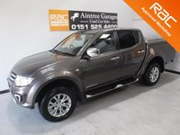 USED 2014 64 MITSUBISHI L200 2.5 DI-D 4X4 BARBARIAN LB DCB 1d 175 BHP GREAT 4 WHEEL DRIVE IN AMAZING CONDITION, GLEAMING METALIC GRAY  PAINT WORK, ONE OWNER, FULL DEALER SERVICE HISTORY 10 SERVICES STAMPS , FULL HEATED LEATHER,SAT NAV, SIDE STEPS HARDTOP CANOPY , DAB RADIO CD, ELEC WINDOWS ALL ROUND, CRUSE CONTROL,  ELEC FOLDING MIRRORS, AIR CON, REVERSE CAMERA BEEN VERY WELL LOOKED AFTER BY PREVIOUS OWNER FULLY SERVICED READY