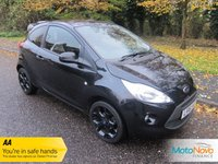 USED 2016 16 FORD KA 1.2 ZETEC BLACK EDITION 3d 69 BHP Fantastic Low Mileage Ford KA Black Edition with Air Conditioning, Black Metallic Paintwork, 16 Inch Black Alloy Wheels and Service History