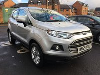USED 2015 65 FORD ECOSPORT 1.5 ZETEC 5d 110 BHP HIGH SPEC ZETEC WITH HEATED WINDSCREEN! ALLOY WHEELS! LEATHER STEERING WHEEL! COOLED GLOVEBOX! LED DAYTIME RUNNING LIGHTS!