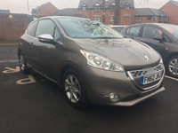 USED 2012 62 PEUGEOT 208 1.4 ALLURE E-HDI 3d AUTO 68 BHP ONLY 13326 MILES FROM NEW!  EXCEPTIONALLY CHEAP TO RUN , LOW CO2 EMISSIONS, £0 ROAD TAX AND EXCELLENT FUEL ECONOMY!  EXCELLENT SPECIFICATION INCLUDING ALLOY WHEELS,HALF LEATHER TRIM, AIR CONDITONING, £0 ROAD TAX!!!
