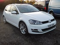 "USED 2016 66 VOLKSWAGEN GOLF 2.0 GT EDITION TDI BLUEMOTION TECHNOLOGY 5d 150 BHP Electric Folding Mirrors, Sat Nav, Front & Rear Parking Sensors, Panoramic Electric Sunroof, Cruise Control, Bluetooth, Rear Privacy Glass, 18"" VW Alloys, AC, Full VW Service History."