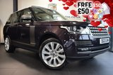 USED 2013 13 LAND ROVER RANGE ROVER 4.4 SDV8 AUTOBIOGRAPHY 5DR AUTO 339 BHP full service history FINISHED IN STUNNING BAROSSA BLACK WITH FULL LEATHER INTERIOR + FULL SERVICE HISTORY + SATELLITE NAVIGATION + PANORAMIC ROOF + SURROUND VIEW CAMERA + HEATED STEERING WHEEL + HEATED/COOLED FRONT/REAR SEATS + TV/DAB RADIO + DUEL VIEW TOUCH SCREEN + ADAPTIVE XENON HEADLIGHTS + DAB RADIO + ELECTRIC TAILGATE + 21 INCH ALLOYS WHEELS
