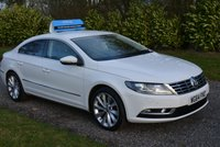 USED 2014 64 VOLKSWAGEN CC 2.0 GT TDI BLUEMOTION TECHNOLOGY 4d 138 BHP 1 OWNER FVWSH LEATHER SAT NAV CRUISE XENONS PARK SENSORS, TAX £30