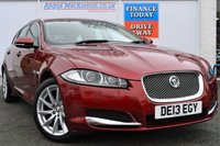 USED 2013 13 JAGUAR XF 2.2 D PREMIUM LUXURY SPORTBRAKE 5d Estate AUTO in the Classic Colour Combination ***ONE OWNER FROM NEW***