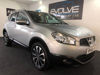 USED 2012 12 NISSAN QASHQAI 1.6 N-TEC PLUS IS 5d 117 BHP LOW MILES! PAN ROOF! SAT NAV! MUST SEE EXAMPLE!