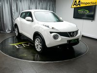 USED 2013 13 NISSAN JUKE 1.6 ACENTA 5d 117 BHP £0 DEPOSIT FINANCE AVAILABLE, AIR CONDITIONING, AUX INPUT, BLUETOOTH CONNECTIVITY, CLIMATE CONTROL, CRUISE CONTROL, SPEED LIMITER, STEERING WHEEL CONTROLS, TRIP COMPUTER, USB CONNECTION