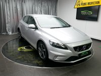USED 2015 15 VOLVO V40 1.6 T3 R-DESIGN NAV 5d 148 BHP **£0 DEPOSIT FINANCE AVAILABLE, BLUETOOTH CONNECTIVITY, SAT NAV, POWER ASSISTED STEERING, STEERING WHEEL CONTROLS, ANTI-THEFT + IMMOBILISER SYSTEM.