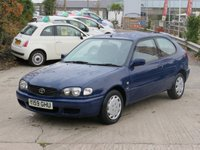 2001 TOYOTA COROLLA 1.4 GS VVT-I 3d 92 BHP £595.00