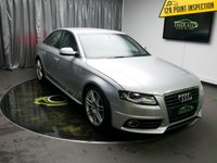 USED 2011 11 AUDI A4 2.0 TDI S LINE SPECIAL EDITION 4d 141 BHP £0 DEPOSIT FINANCE AVAILABLE, CLIMATE CONTROL, SPORTS SEATS, DAYTIME RUNNING LIGHTS, POWER ASSISTED STEERING, FRONT CENTRE ARMREST WITH 2X 12V SOCKETS.