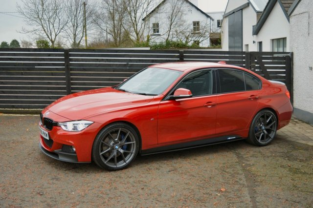 2015 65 BMW 3 SERIES 2.0 320D M SPORT 4d AUTO 188 BHP MELBOURNE RED LCI
