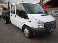 2014 FORD TRANSIT 350 LWB Double Cab Steel Tipper 100 PS *REAR STORAGE* £10995.00