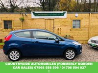 USED 2009 59 FORD FIESTA 1.2 ZETEC 3d 81 BHP Lovely example finished in metalic blue, good specification with Zetec alloys and bluetooth and voice control. immaculate condition inside and out and just been serviced with new axle bushes and recently had new discs and pads. combined MPG of 42.8 with zetec sporty looks. comes with full bookpack and 2 keys and includes 12 months parts and labour guarantee worth £299.