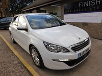 USED 2015 65 PEUGEOT 308 1.6 BLUE HDI S/S ACTIVE 5d 100 BHP * FULL SERVICE HISTORY * 1 PRIVATE KEEPER * £0 DEPOSIT FINANCE AVAILABLE * SAT-NAV * ZERO TAX *