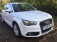 2012 AUDI A1 1.4 TFSI SPORT 3 DOOR AUTOMATIC 122 BHP IN WHITE WITH 51000 MILES . £8999.00