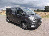 2018 FORD TRANSIT CUSTOM 300 L2 H1 Custom Limited Automatic 130, Led load lights, Power socket in cab, Magnetic Grey £20999.00