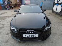 USED 2011 11 AUDI A4 2.0 TDI S LINE BLACK EDITION 4d 134 BHP
