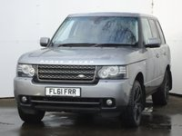USED 2011 61 LAND ROVER RANGE ROVER 4.4 TDV8 VOGUE 5d AUTO 313 BHP BLACK STYLING PACK, FULL SERVICE HISTORY, DIGITAL TV, SATELLITE NAVIGATION, PRIVACY GLASS, 20 INCH BLACK ALLOYS, HEATED STEERING WHEEL, DAYTIME LED RUNNING LIGHTS,