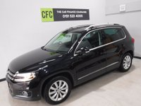USED 2015 15 VOLKSWAGEN TIGUAN 2.0 MATCH TDI BLUEMOTION TECHNOLOGY 5d 139 BHP A REAL EXAMPLE OF A STUNNING AND VERY WELL LOOKED AFTER UTILITY VEHICLE , FINISHED IN GLEAMING BLACK WITH ONE OWNER FROM NEW AND FULL VW SERVICE HISTORY, BLACK CLOTH/ANTARA INTERIOR, FRONT SPOT LIGHTS, CROME ROOF RAILS,  18INCH UPGRADED ALLOYS, , SAT NAV,  BLUE TOOTH PHONE PREP, VOICE COMMAND,  AUX USB LEAD, AUTO HEAD LAMPS,  DAD CD RADIO