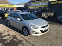 USED 2011 61 HYUNDAI I40 1.7 CRDI STYLE BLUE DRIVE 5 ESTATE 134 BHP IN SILVER WITH SAT NAV AND ONLY 72000 MILES APPROVED CARS ARE PLEASED TO OFFER THIS HYUNDAI I40 1.7 CRDI STYLE BLUE DRIVE 5 ESTATE 134 BHP IN SILVER WITH SAT NAV,BLUETOOTH,6 SPEED GEARBOX,AIR CON,FRONT AND REAR SENSORS,PRIVACY GLASS AND MUCH MORE WITH A FULL SERVICE HISTORY SERVICED AT 19K,37K,46K,54K AND 64K A GREAT ESTATE CAR AN IDEAL FAMILY CAR.