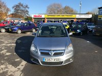 2007 VAUXHALL ZAFIRA 1.6 LIFE 16V 5d 105 BHP TRADE CLEARANCE CAR IN MET BLUE WITH ONLY 60000 MILES £1599.00