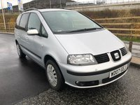 USED 2007 07 SEAT ALHAMBRA 2.0 REFERENCE TDI 5d 139 BHP 7 SEATS *  2 PREVIOUS KEEPER *  FULL SERVICE RECORD (8 STAMPS) *  MOT JULY 2019 *