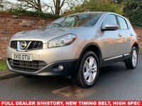 USED 2010 10 NISSAN QASHQAI 1.5 ACENTA DCI 5d 105 BHP FULL DEALER SERVICE HISTORY, 1YR MOT, NEW TIMING BELT, ALLOYS, CRUISE, CLIMATE, BLUETOOTH, REAR SENSORS, E/WINDOWS, R/LOCKING, FREE  WARRANTY, FINANCE AVAILABLE, HPI CLEAR, PART EXCHANGE WELCOME,