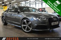 USED 2015 65 AUDI A6 2.0 TDI ULTRA S LINE BLACK EDITION 4d 188 BHP + 1 OWNER / AUDI  SERVICE HISTORY / FREE LIFETIME WARRANTY / 12 MONTHS MOT +