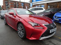USED 2016 16 LEXUS RC 2.0 200T F SPORT 2d AUTO 241 BHP HEATED/COOLING SEATS, SAT NAV