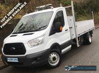 USED 2014 64 FORD TRANSIT L3 350 LWB DRW DROPSIDE & STORAGE BOX 2.2 RWD 125BHP 1 Owner, Full Service History