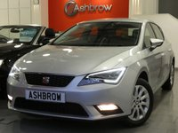 USED 2016 65 SEAT LEON 1.6 TDI SE TECHNOLOGY 5d 110 S/S UPGRADE CONVENIENCE PACK PLUS INCLUDING LIGHT & RAIN SENSORS & AUTO DIMMING REAR VIEW MIRROR WITH DAYTIME RUNNING LIGHTS, UPGRADE LED INTERIOR LIGHT PACK INCLUDING LIGHTS IN FRONT & REAR FOOT WELLS, SAT NAV, FULL LINK READY FOR APPLE CAR PLAY & ANDROID AUTO (DEALER ACTIVATION REQUIRED), BLUETOOTH PHONE & MUSIC STREAMING, DAB RADIO, LED FRONT & REAR LIGHTS, CRUISE CONTROL, AUX & USB INPUTS, AIR CON, 1 OWNER FROM NEW, FULL SEAT SERVICE HISTORY, £0 ROAD TAX (99  G/KM), VAT Q