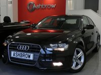 USED 2014 64 AUDI A4 2.0 TDI ULTRA SE TECHNIK 4d 163 S/S HDD SAT NAV WITH JUKEBOX & DVD PLAYBACK (MMI NAVIGATION PLUS), FULL LEATHER INTERIOR, DAB RADIO, WIRELESS LAN CONNECTION (WLAN), BLUETOOTH MOBILE PHONE PREP WITH MUSIC STREAMING, AUDI MUSIC INTERFACE (AMI), FRONT & REAR PARKING SENSORS WITH DISPLAY, FRONT FOG LIGHTS, 17 INCH 5 SPOKE ALLOYS, LEATHER MULTI FUNCTION STEERING WHEEL, CRUISE CONTROL, LIGHT & RAIN SENSORS WITH AUTO DIMMING REAR VIEW MIRROR, 1 OWNER FROM NEW, FULL AUDI SERVICE HISTORY, £20 ROAD TAX (109 G/KM), VAT Q