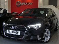 USED 2016 66 AUDI A3 SPORTBACK 1.4 TFSI SPORT 5d 150 S/S NEW SHAPE, SAT NAV, REAR PARKING SENSORS, LED XENON LIGHTS, CRUISE CONTROL, DAB DIGITAL RADIO, BLUETOOTH PHONE & MUSIC STREAMING, AUDI CONNECT FOR APPLE CAR PLAY & ANDROID AUTO, WIFI, AUX INPUT, 2x USB INPUTS, LIGHT & RAIN SENSORS, 17 INCH 5 SPOKE ALLOYS, AUDI DRIVE SELECT, DUAL CLIMATE AIR CON, CD HIFI WITH 2x SD CARD READERS & SIM CARD READER, 1 OWNER FROM NEW, FULL SERVICE HISTORY, BALANCE OF AUDI WARRANTY, £20 ROAD TAX