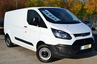 USED 2014 64 FORD TRANSIT CUSTOM 2.2 290 LR P/V 5d 99 BHP L2H1 LWB 1 OWNER ~ FULL SERVICE RECORDS ~ 2 KEYS ~ 6 MONTHS WARRANTY ~ 6 MONTHS BREAKDOWN COVER