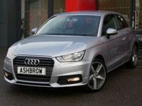 USED 2015 15 AUDI A1 1.6 TDI SPORT 3d 115 S/S £0 ROAD TAX, 1 OWNER FROM NEW, NEW SHAPE / FACE LIFT, UPGRADE 17 IN 5 ARM BI COLOUR ALLOYS, UPGRADE COMFORT PACK (INC UPGRADE REAR ACOUSTIC PARKING SENSORS + CRUISE CONTROL + HIGH BEAM ASSIST + AUTO DIM REAR VIEW + WINDSCREEN SUNBAND), DAB, FRONT FOGS, GREY TORNADO CLOTH INTERIOR, SPORT SEATS, LEATHER MULTIFUNCTION STEERING WHEEL, A/C, AUDI DRIVE SELECT, BLUETOOTH PHONE & MUSIC STREAMING,AUDI MUSIC INTERFACE (AMI),SD READER,TYRE PRESSURE MONITOR, ELECTRIC HEATED MIRRORS, ISO FIX, VAT QUALIFYING.