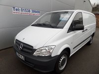 2014 MERCEDES-BENZ VITO 2.1 113 CDI 1d 136 BHP FINAL PLUS VAT £8750.00